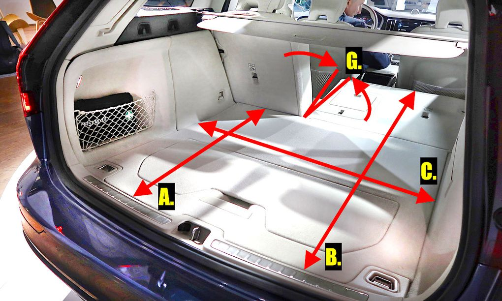 Bagageutrymmet i nya Volvo V60 – volym, mått och jämförelse med gamla V60, V70 och V90 - auto ...