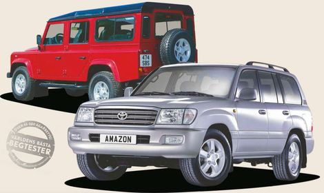 Begduell: Land Rover Defender vs Toyota Land Cruiser