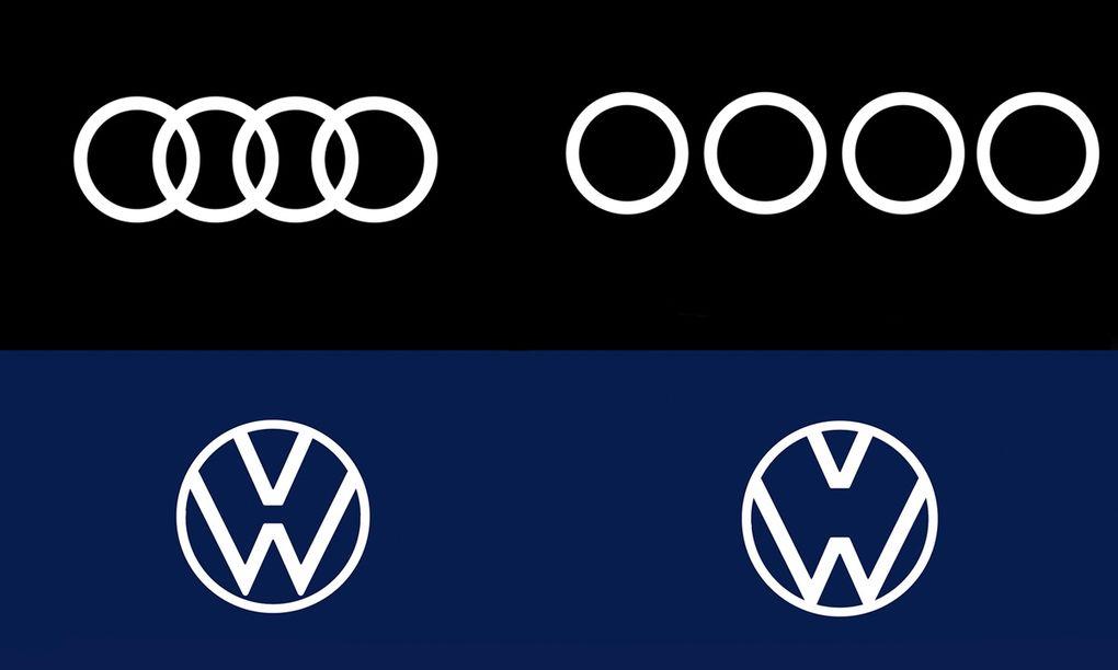 """Volkswagen och Audis """"coronaloggor"""" ska få folk att hålla avståndet"""
