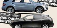 BEG: Mercedes ML mot Lexus RS – feta kvalitetsbilar