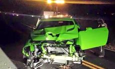 Efter en timme – Dodge Challenger SRT Hellcat blev totalskrot
