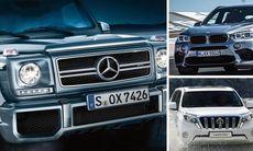 De 10 dyraste suvarna: Mercedes är tveklöst värst