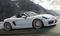 Nya Porsche Boxster Spyder visas med 375 hk 3,8-motor