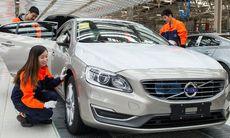 Exporten från Kina till USA av Volvo S60L har börjat