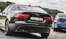 """""""Lättviktsbilen"""" Jaguar XE tyngre än BMW"""