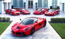 Golfproffs har unik Ferrarisamling – nu också en LaFerrari