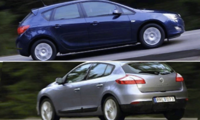 BEG: Opel Astra mot Renault Megane