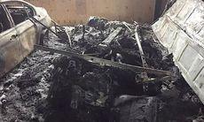 Otäck bilbrand – bilen försvann – vad är det för modell?
