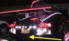 Förnedrad Lamborghini Murcielago – ett blinkande tivoli