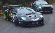 Lamborghini Murciélago mot Ford Mustang RTR i episk drifting