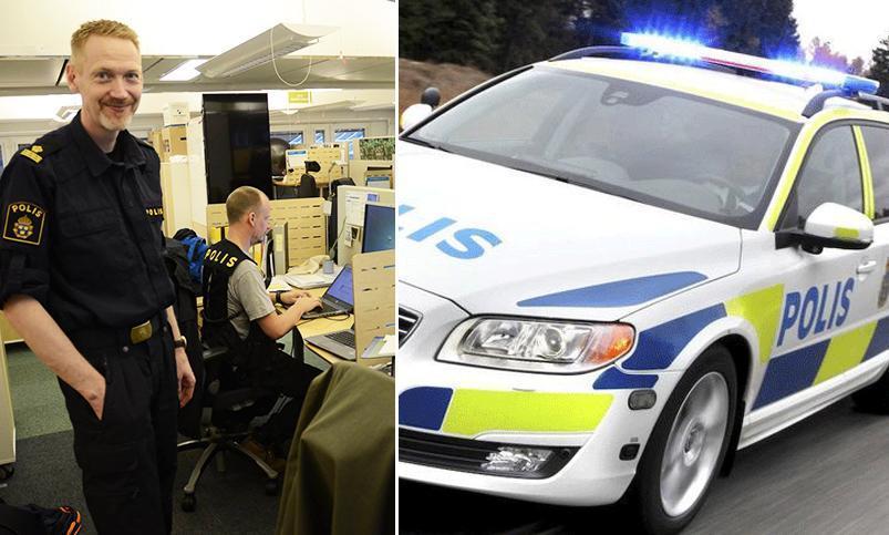Utryckande poliser i krock