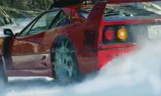 Han kör rally med Ferrari F40 – på snö