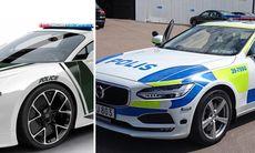 Svenska polisen kör V90 – i Dubai kör de Bugatti
