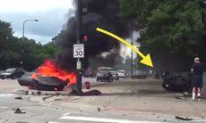 Kraschar Lamborghini Huracan – räddad sekunder innan bilen tar eld