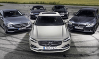Test: Volvo S90, BMW 5-serie, Mercedes E-klass och Kia Optima