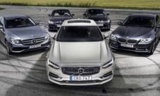 Test: Volvo S90, BMW 5-serie, Mercedes E-klass och Kia Optima