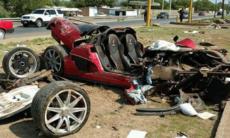 Koenigsegg CCX totalförstörd i våldsam krasch