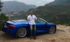 """Audi R8 Spyder provkörd: """"Den är så oerhört fet!"""""""
