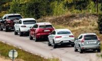 Test: Jaguar F-Pace, Mercedes GLC Coupé, Porsche Macan, Volvo XC60 och Ford Edge