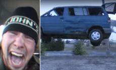 Årets julklapp: Skrotbil att köra sönder