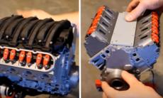 3D-printad modell av Chevrolet Camaro LS3 V8-motor