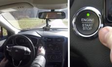 Detta händer om du trycker på start/stopp-knappen när du kör