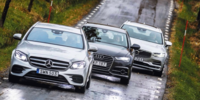 Test: Mercedes E-klass kombi, Audi A6 Avant och Volvo V90
