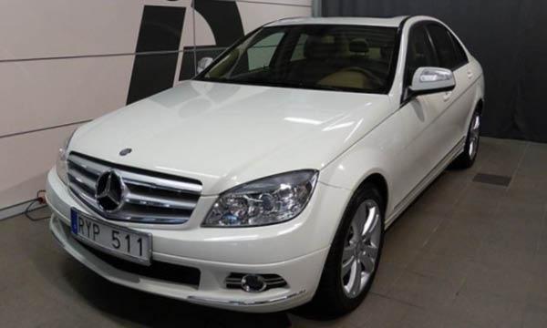 Skrotklassad Mercedes hos auktoriserad säljare