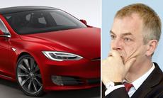 Tyska ministerns kontroversiella bilval: Tesla Model S
