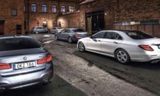 Test: BMW 5-serien, Jaguar XF, Mercedes E-klass, Volvo S90 och Mercedes GLC