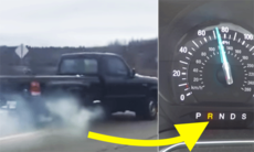 Detta händer om du lägger i backen i 110 km/h