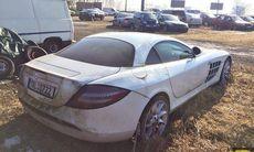 Mercedes SLR McLaren bortglömd på camping sedan 2011