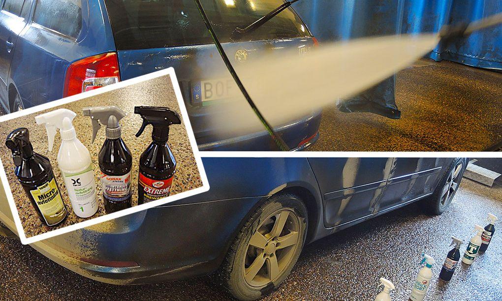avfettning bil test