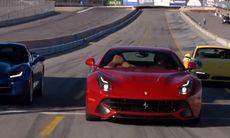 Superbilsfest: Ferrari F12 mot Corvette och Porsche