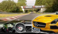 Mercedes SLS på Ringen – här går det undan!