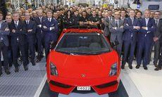 Den sista Lamborghini Gallardo har lämnat Sant'Agata Bolognese