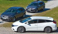 TEST: Ford Focus Kombi 1,6T, Honda Civic Tourer och Seat Leon ST TSI