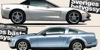 Begduell: Chevrolet Corvette mot Ford Mustang