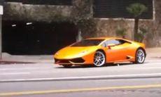 Första filmen med Lamborghini Huracan
