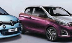 Renault Twingo och Peugeot 108 läcker ut – samtidigt