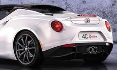Alfa Romeo lockar med 4C Spider i Genève
