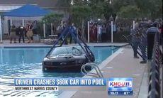 Ofrivilligt dopp i pool för Camaro ZL1