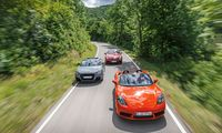 Test: Tre sportiga roadsters – Audi, Mercedes, Porsche